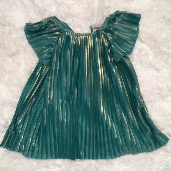 8289d67a4 Genuine Kids teal & gold ruffled dress from Target.  M_5bf47a891b3294b56119c3dc